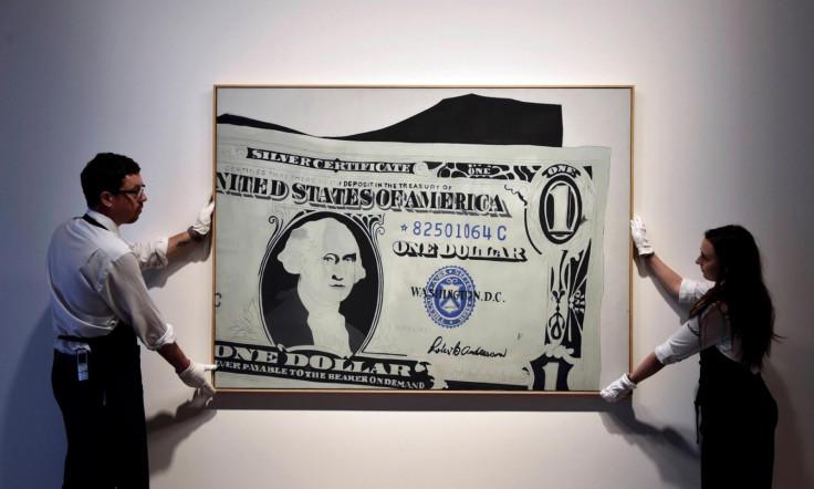 Andy Warhols Dollar Bill Fetches 209m At Sothebys Record Sales
