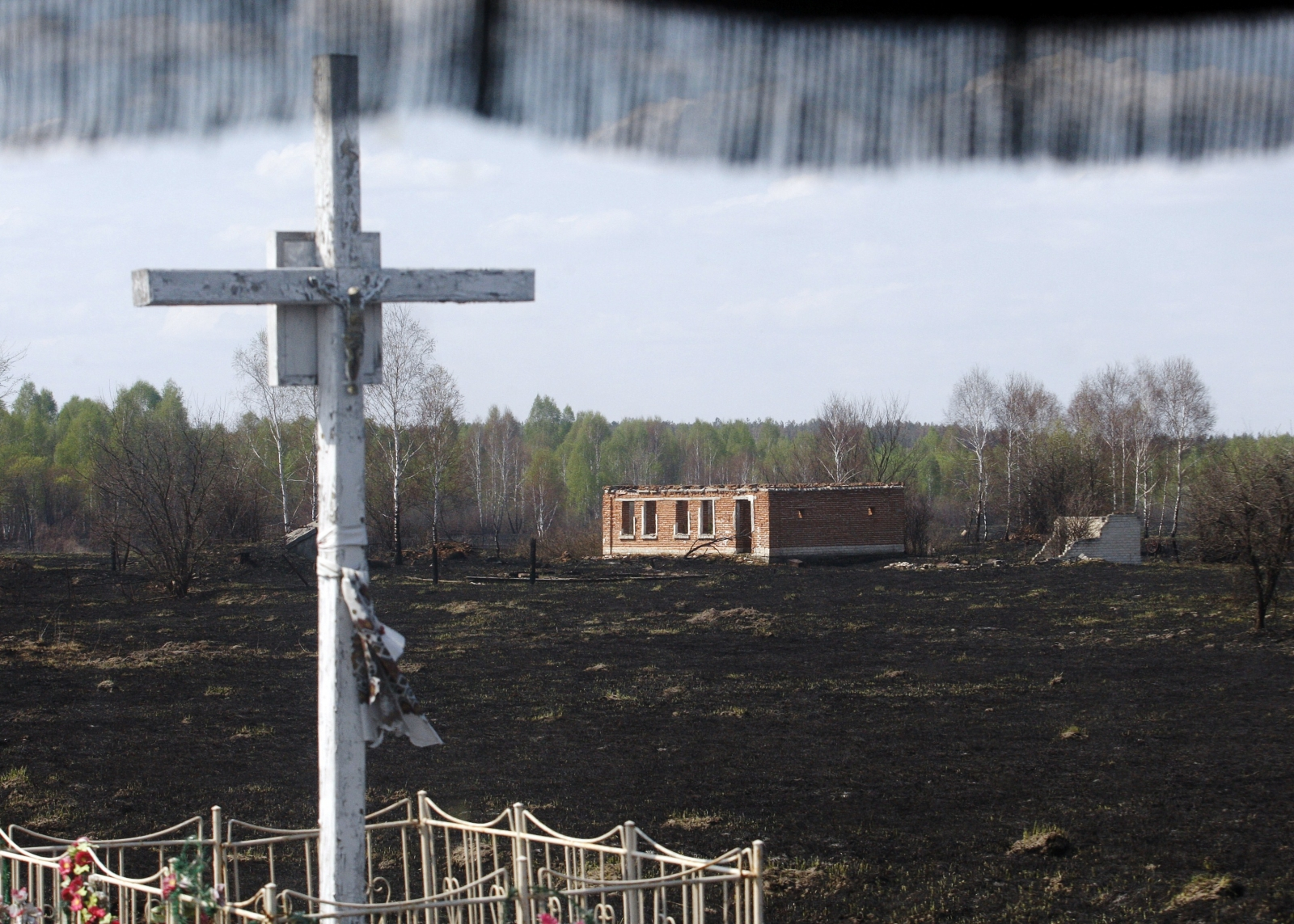 In May, a fire tore through the