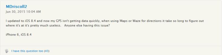 iOS 8.4 GPS problems