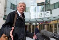 Tony Hall at the BBC HQ