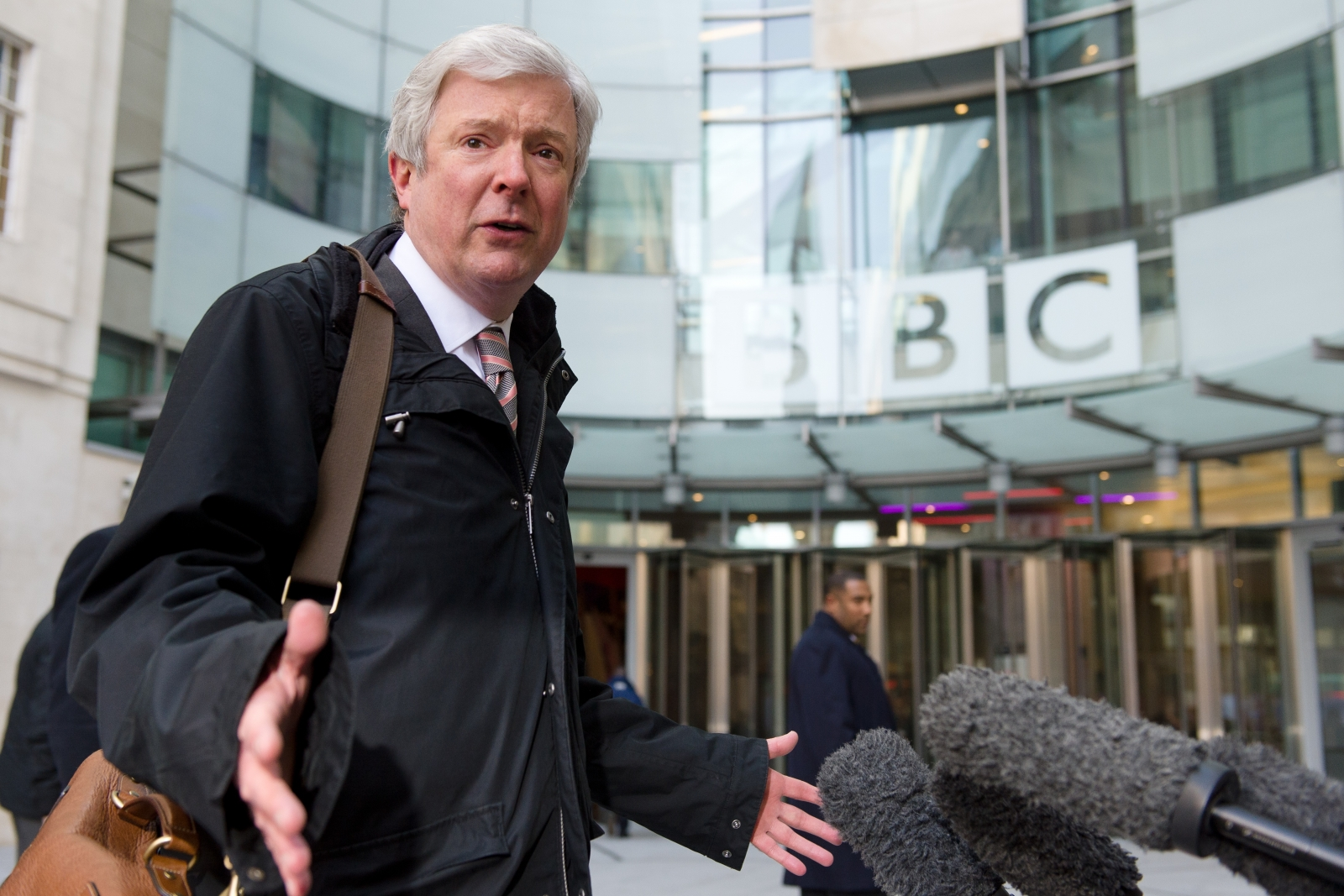 Tony Hall at the BBC HQ