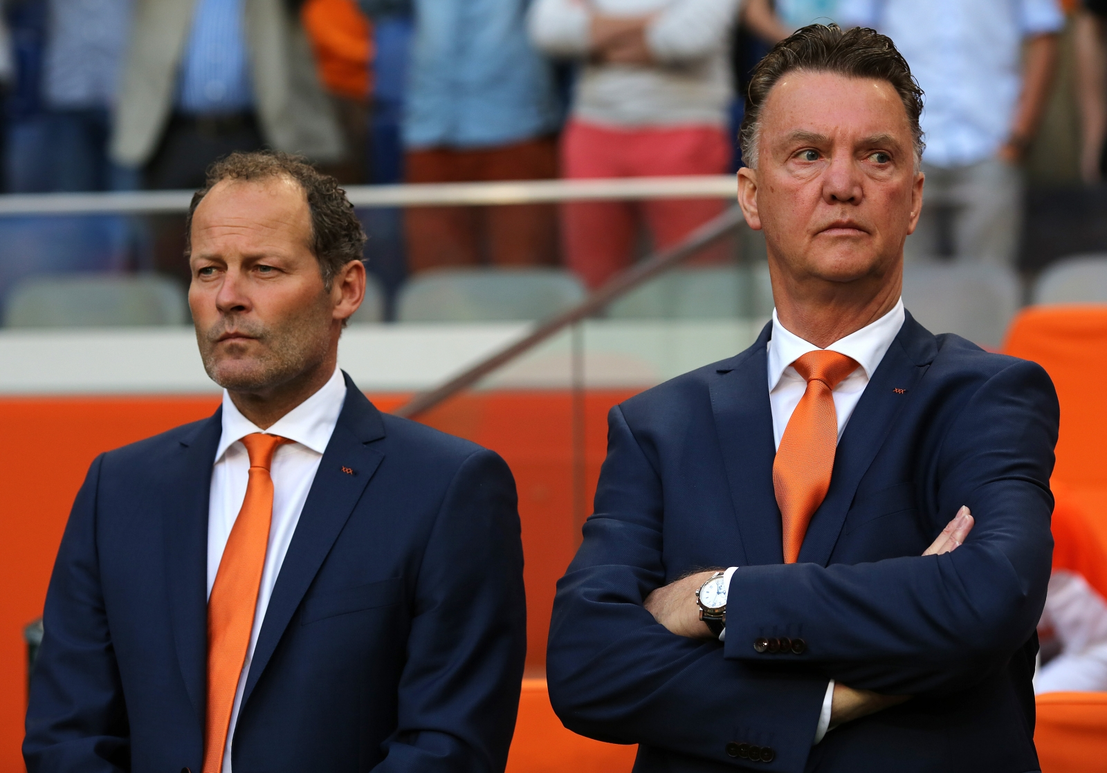 Danny Blind and Louis van Gaal