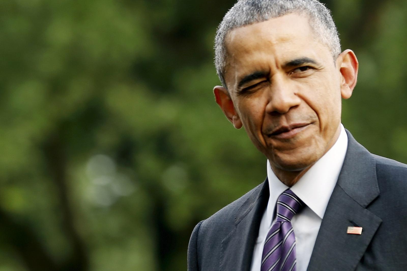 Obama winking