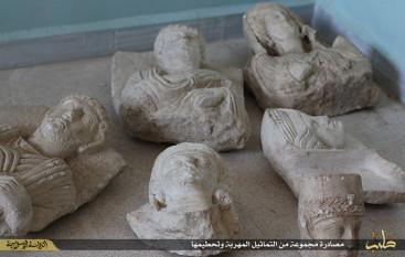 Palmyra statues prior to their destruction