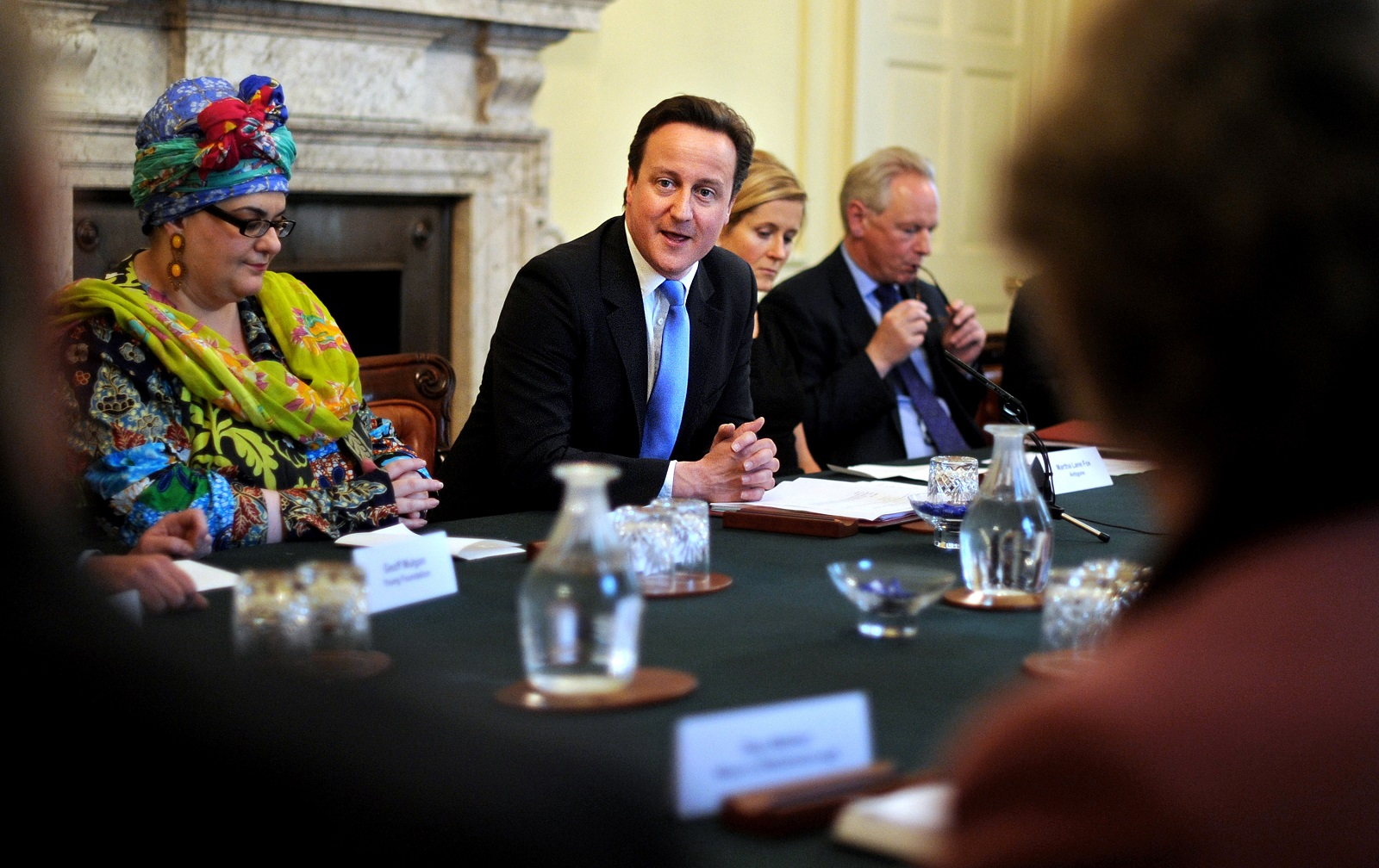 Camila Batmanghelidjh and David Cameron
