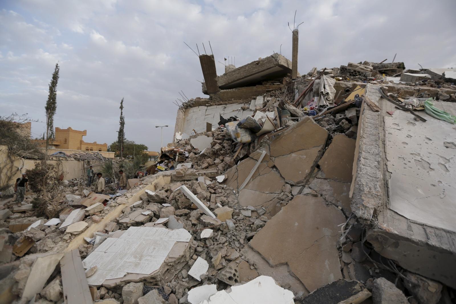 Saudi airstrikes in Yemen