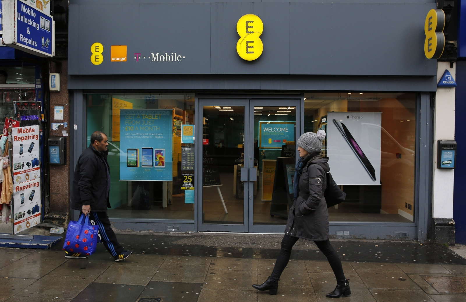 UK mobile operator EE (formerly T-Mobile Orange)