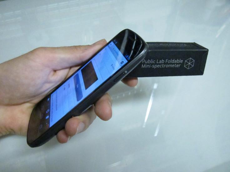spectrometer smartphone nasa quantum dot