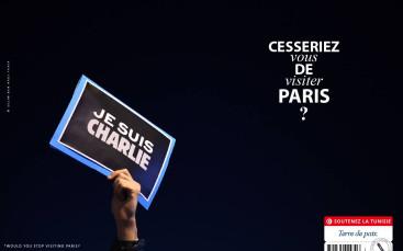 Charlie Hebdo Tunisia ad tourism