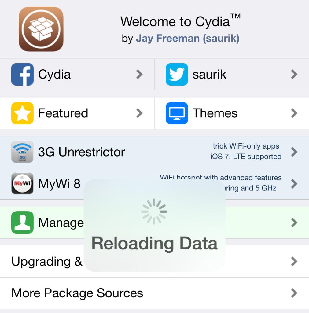 Dedicated Cydia tweaks for Cydia 1.1.19