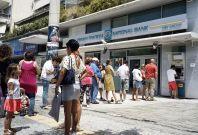 Greece Bank ATM queue