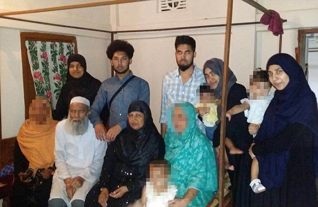 Family of 12 fled uk