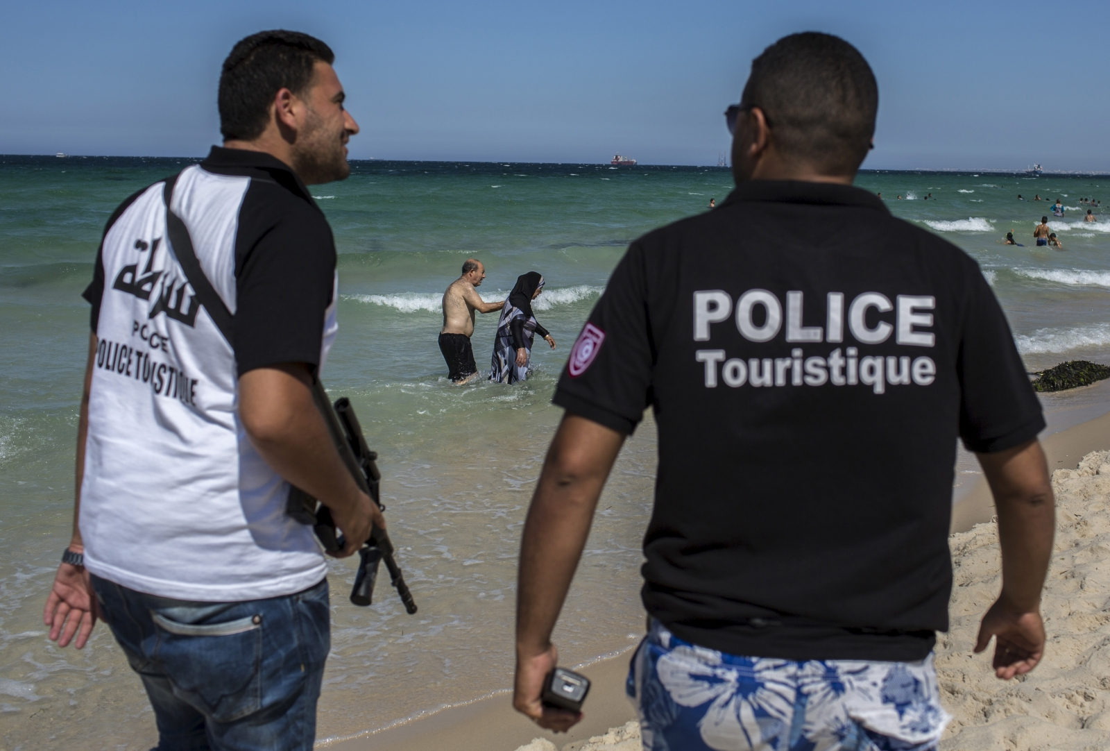 Tourist police officers
