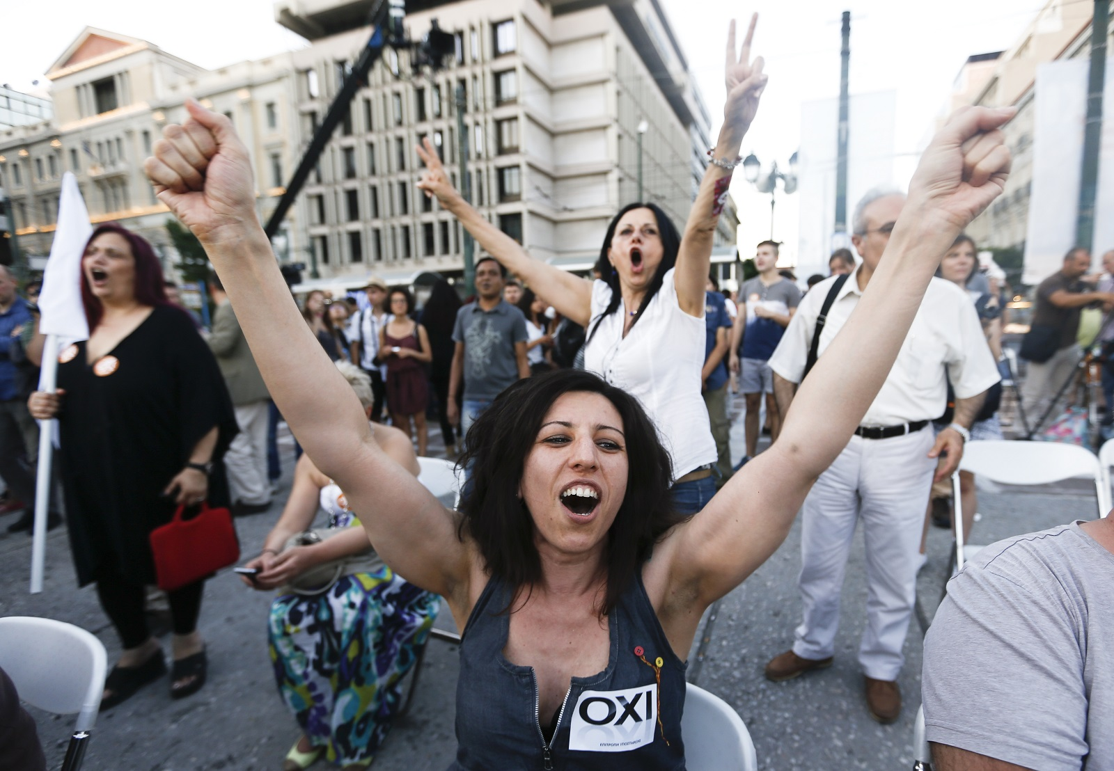 Anti-Austerity No voters in Greece