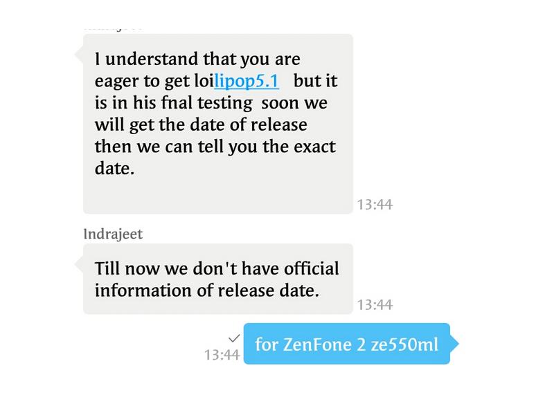 Asus Zenfone 2 ZE550ML to get Android5.1