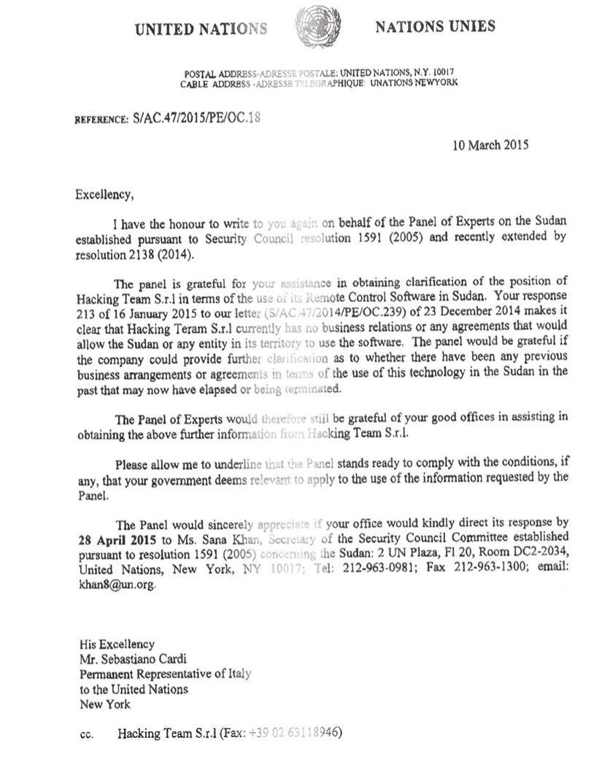 Italian ambassador UN Sebastiano Cardi email