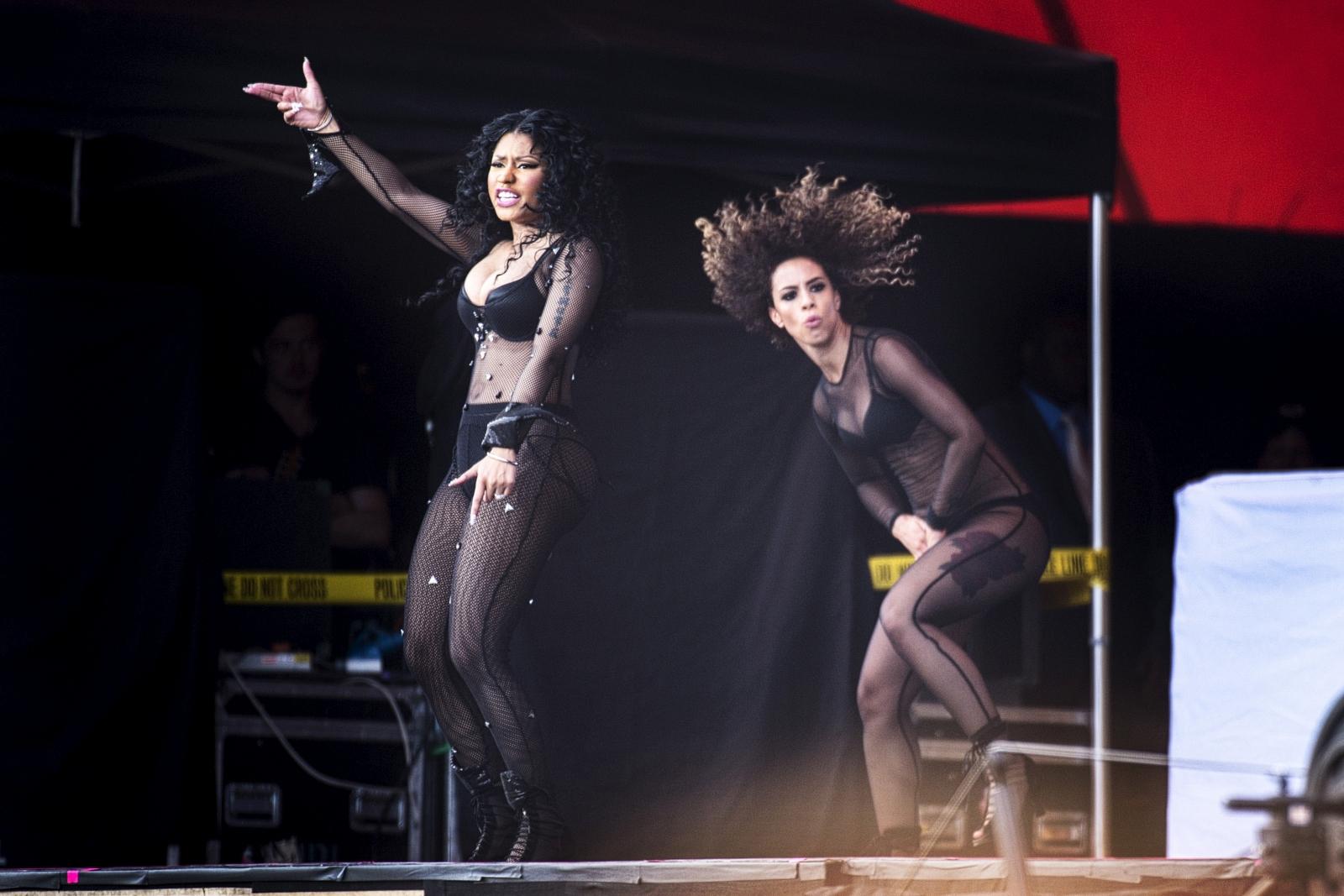 Nicki Minaj performing in Denmark