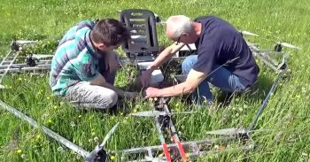 Getting the 16-rotor drone ready for flight