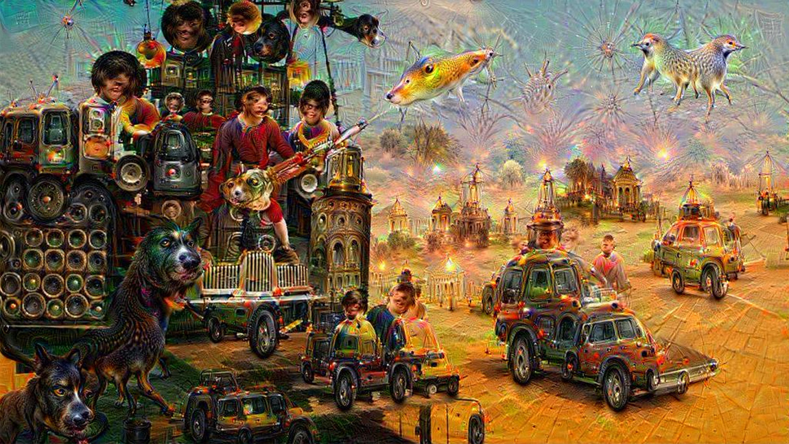 Mad Max: Fury Road in Google DeepDream