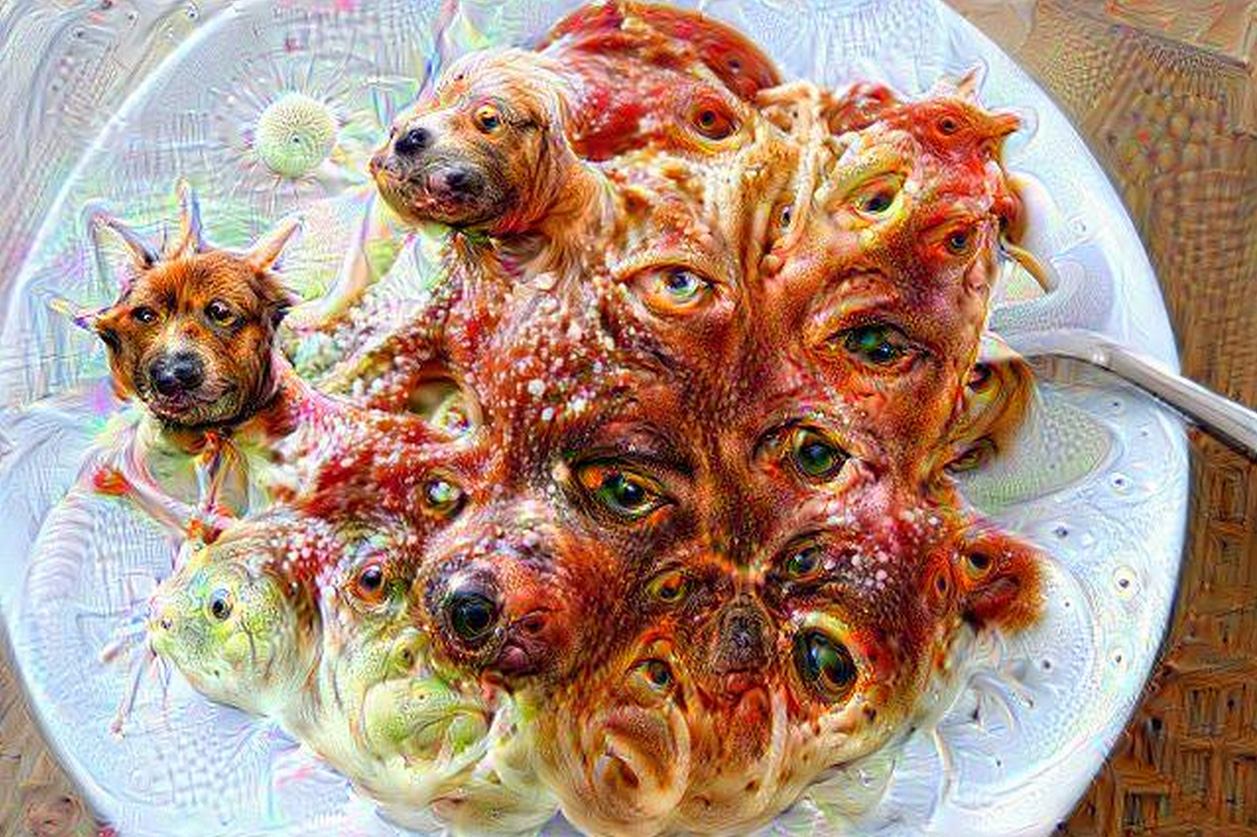 Spaghetti and meatballs become really frightening