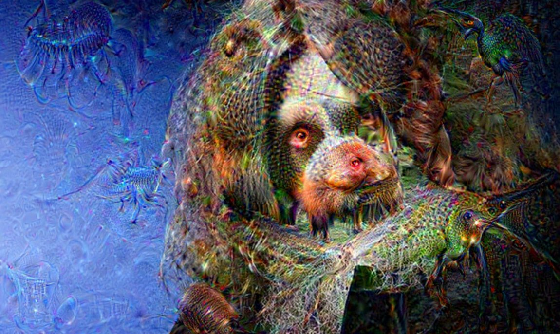 Graphic artist Alan Moore in Google DeepDream