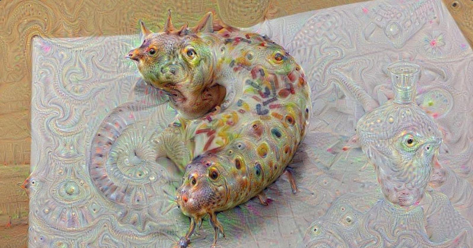 A half-eaten donut becomes a slug