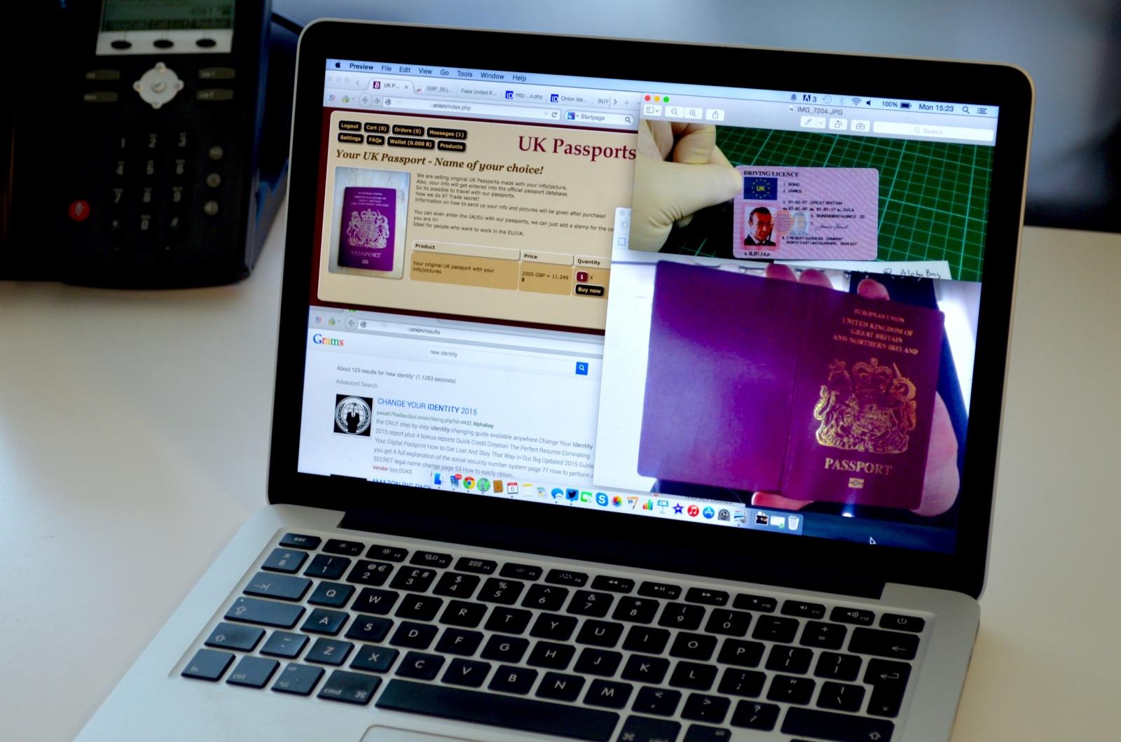 Dark web passports for sale