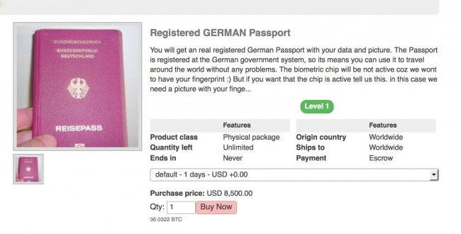 British passports can be bought on dark web for just £2,000