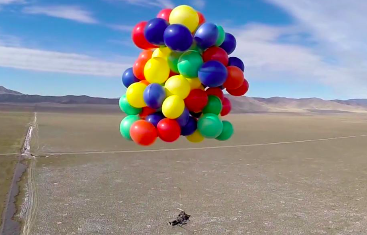 Canada Man Attaches 110 Helium Balloons To Chair And
