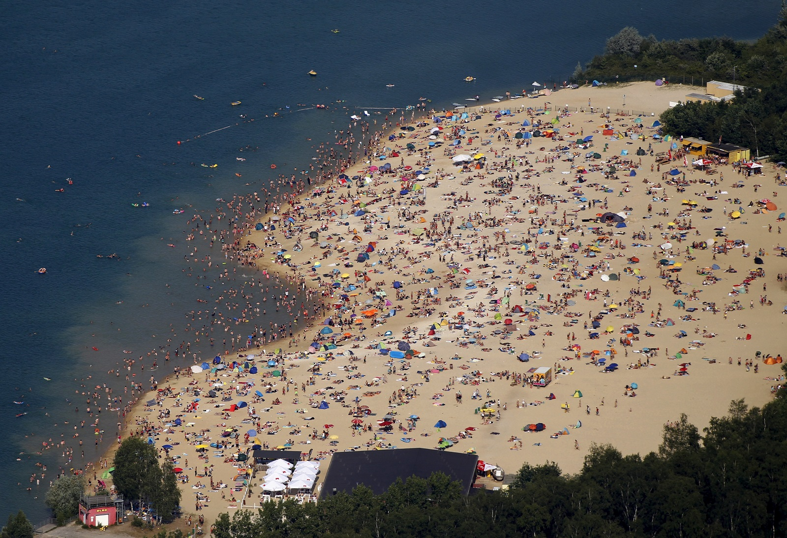 Germany basks in a heatwave