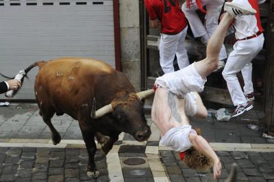 pamplona running bulls