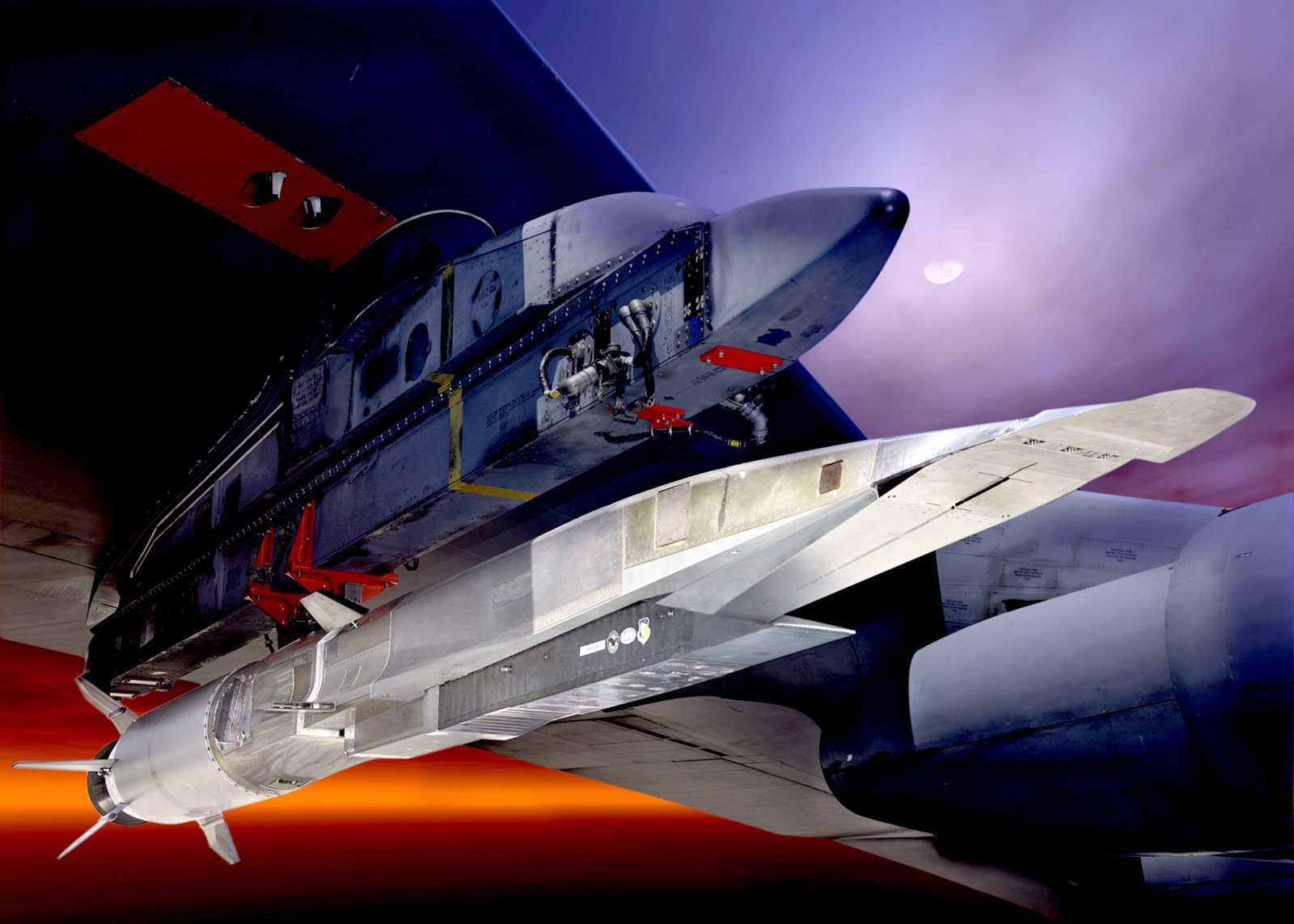 X-51 Waverider hypersonic attached to B-52 Bomber