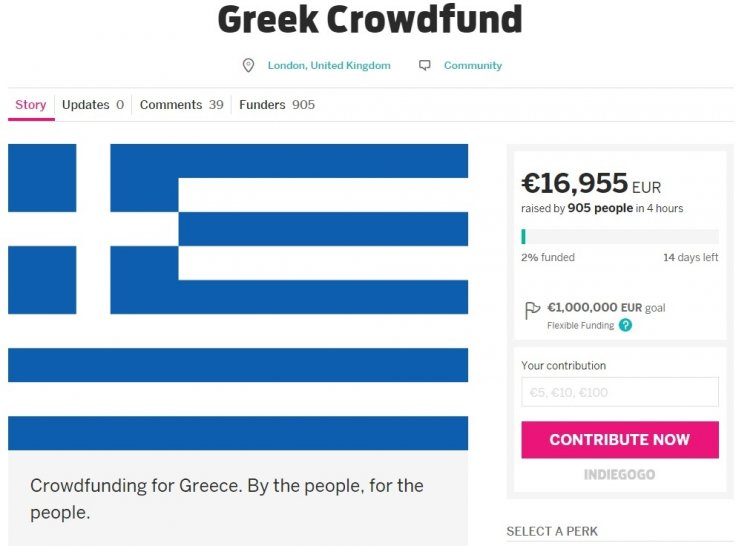 Greek Crowdfund: Failed bailout organiser Thom Feeney starts new fundraiser for Greece