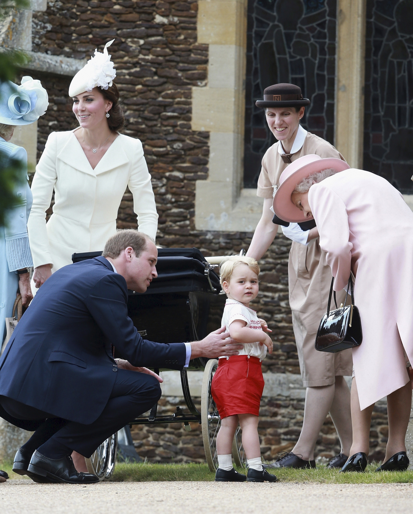 Royal nanny at Princess Charlotte christening