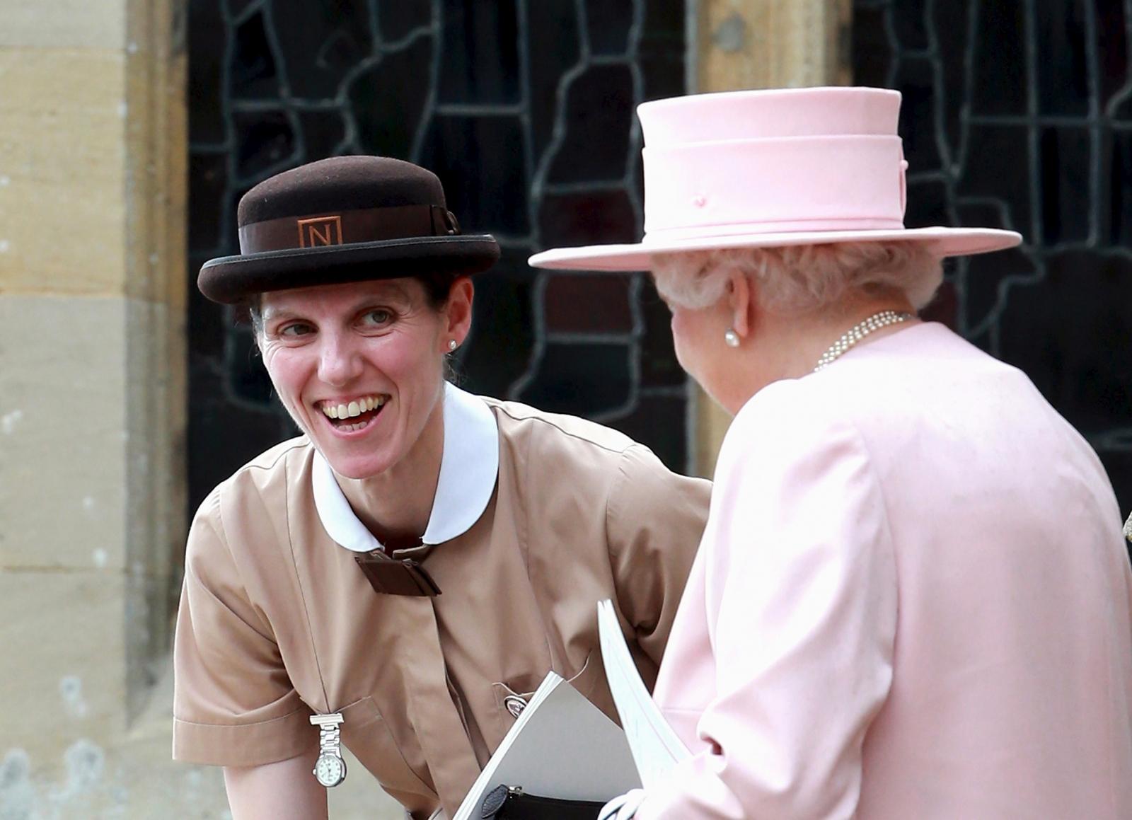 Nanny at Princess Charlotte christening