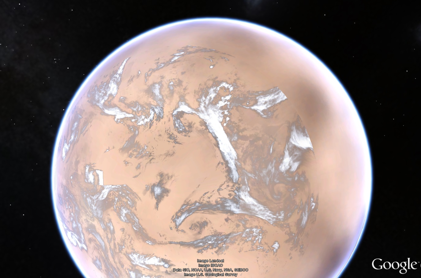pluto map google earth