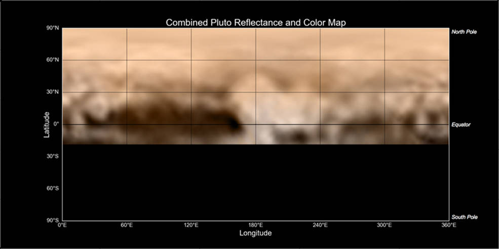 New Horizons Map of Pluto