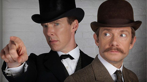 Benedict Cumberbatch and Martin Freeman