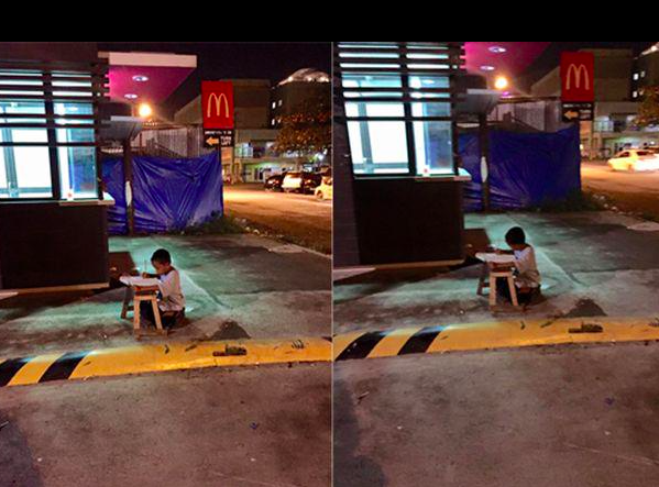Homeless boy Philippines