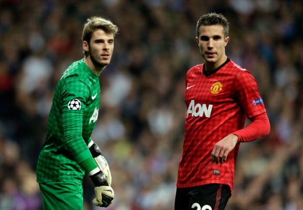 David De Gea and Robin van Persie