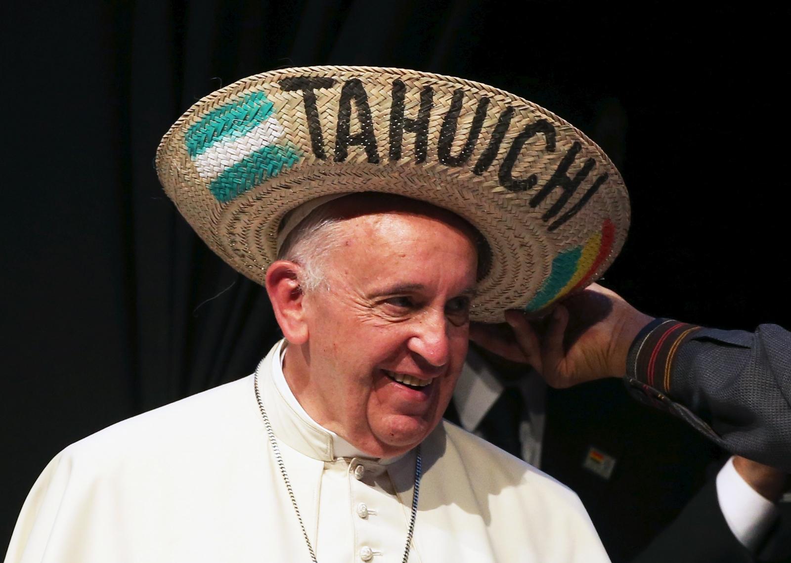 Pope Francis Bolivia Burger King