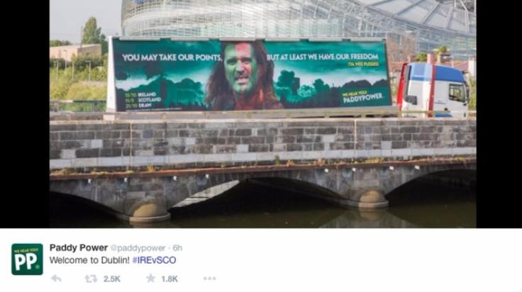 Paddy Power advert