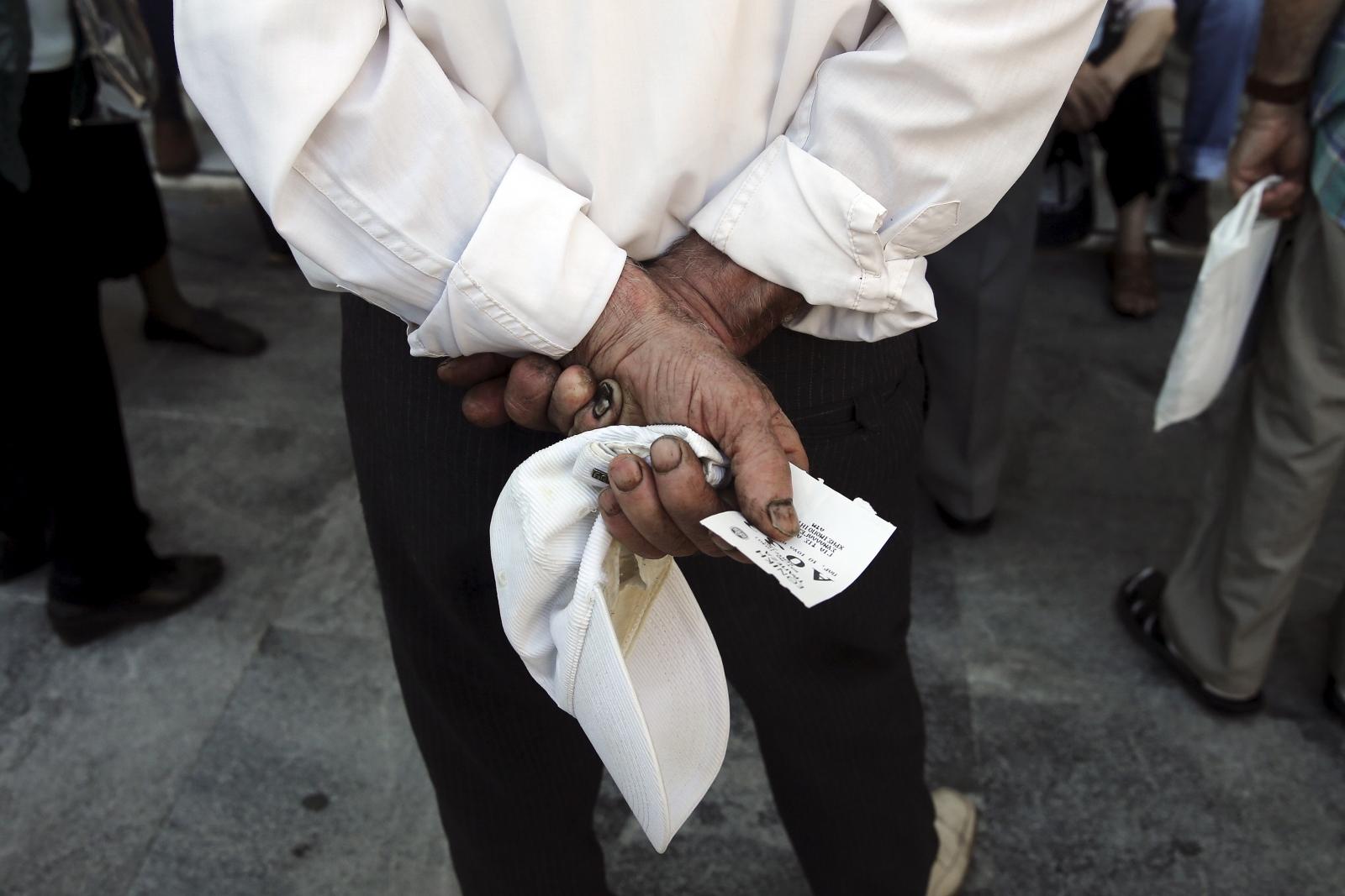 Greek pensioners Athens
