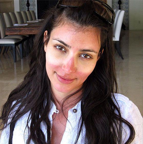 Kim Kardashian tan selfie