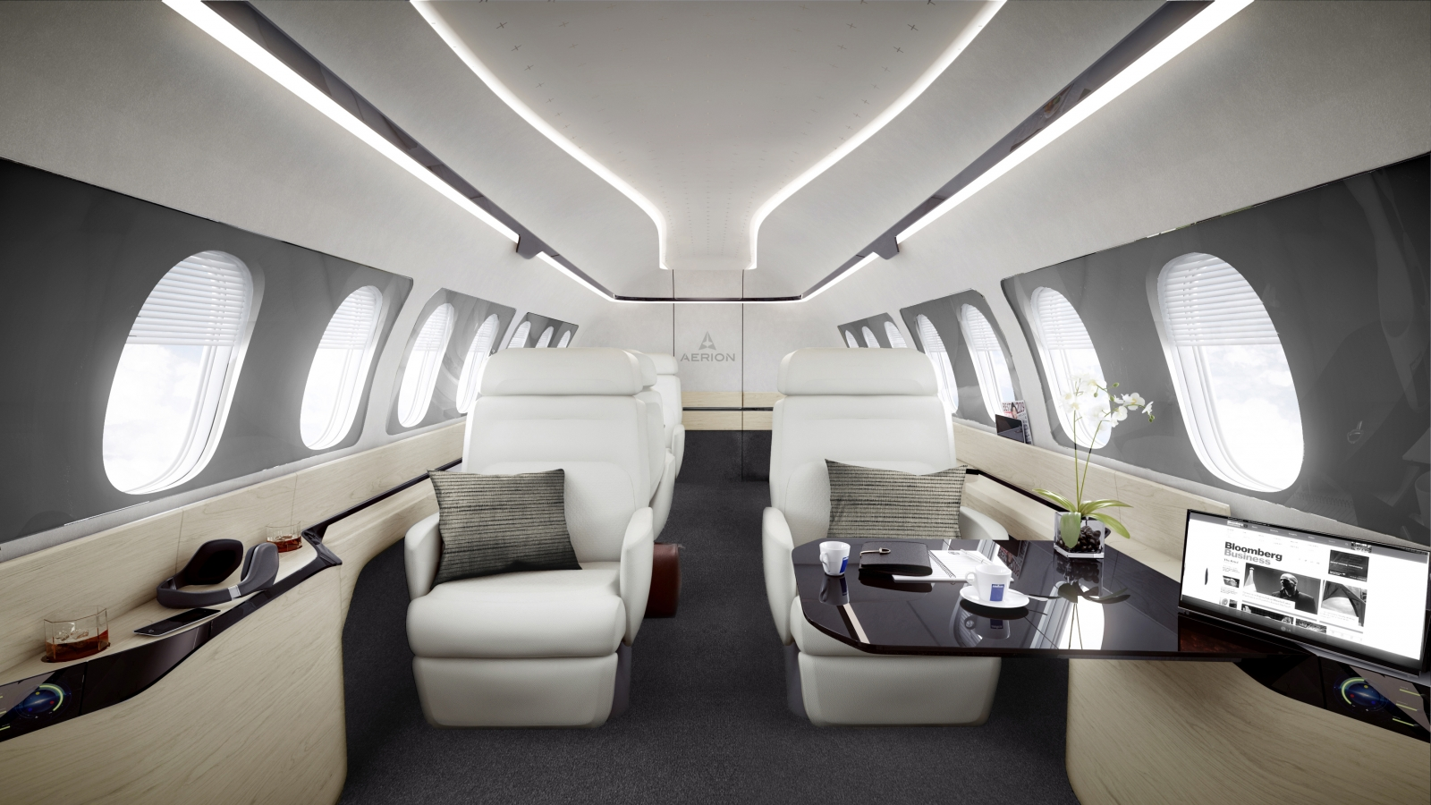 Aerion AS2 supersonic business jet cabin