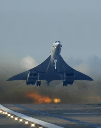 British Airways Concorde flight taking off