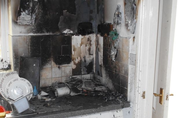 Fire caused by e-cigarettes