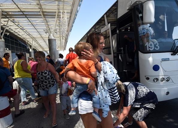 British tourists returning to UK