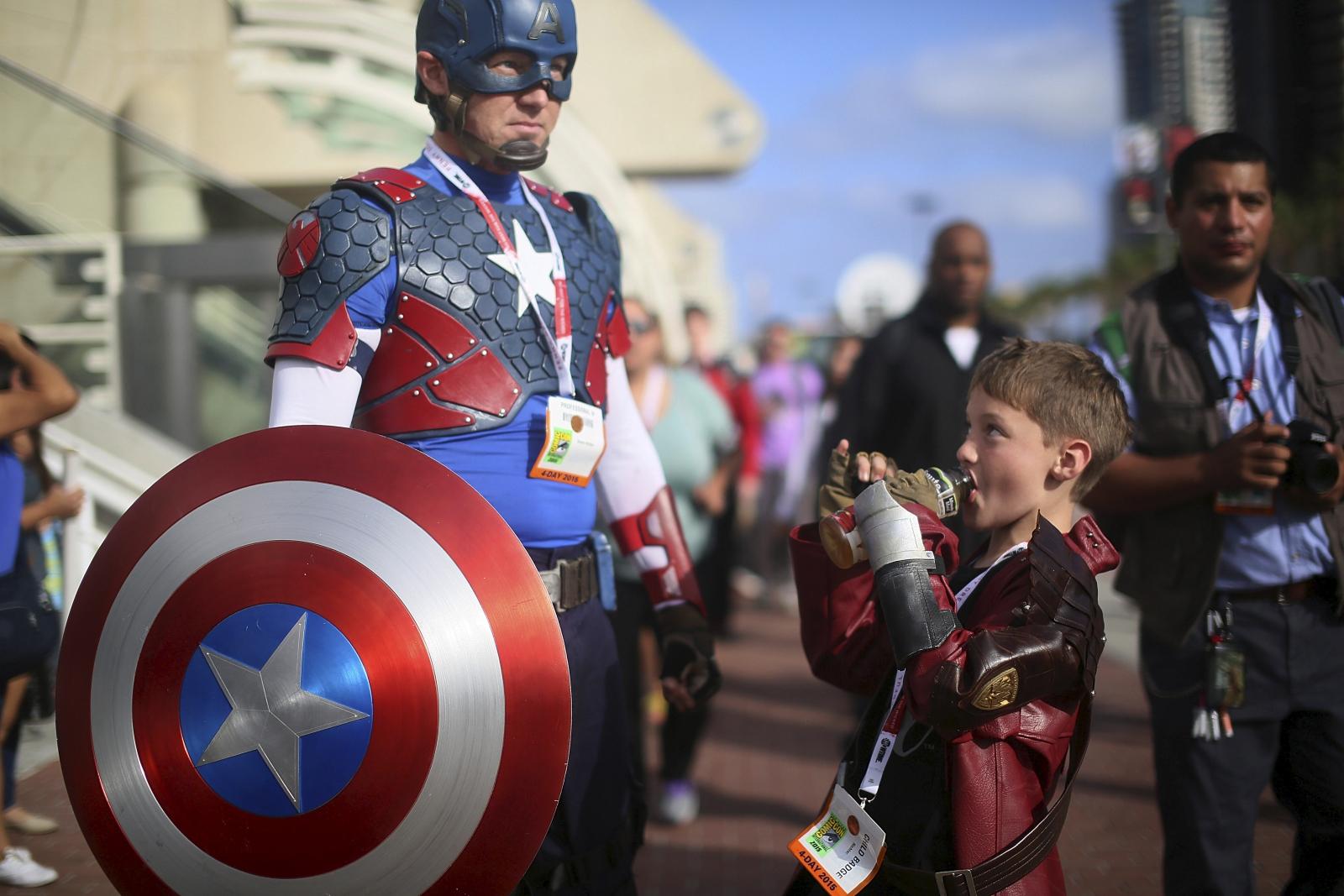 Comic-con captain america iron man