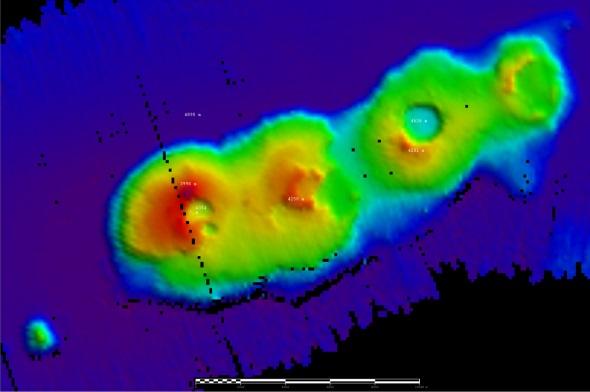50-million year old volcanoes Sydney coast